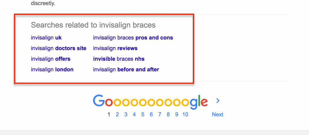 google-related-searches