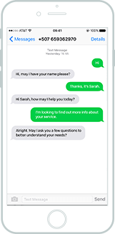 SMS text-to-chat